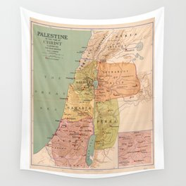 Map of Palestine in the Time of Christ (to 70 A.D.) Wall Tapestry