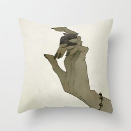 The Witch's Bat Throw Pillow