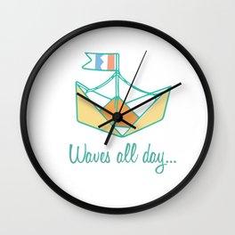 Origami Sailboat Wall Clock