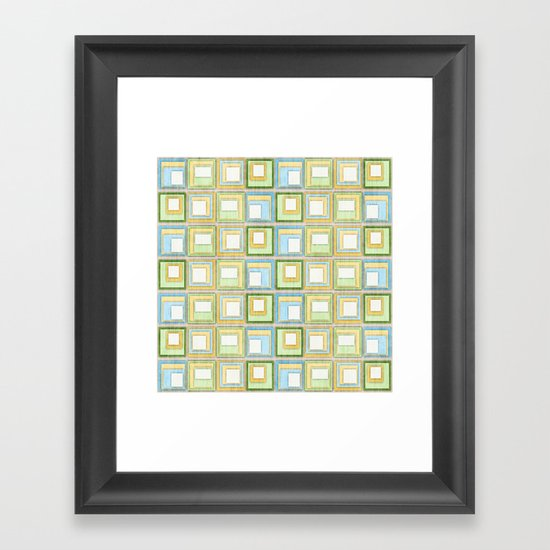 English Country Tiles. Framed Art Print