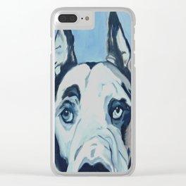 Great Dane in Purple Clear iPhone Case