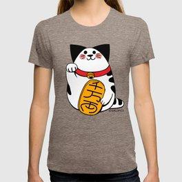 Teh as Maneki Neko Cat T-shirt