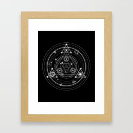 Dark and mysterious wicca style sacred geometry Framed Art Print