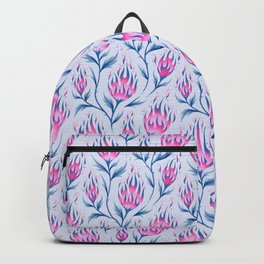 Fire Flower - Light Pink Backpack