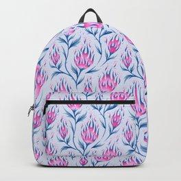 Fire Flower - Light Pink Backpack