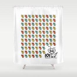 101 dalmartians Shower Curtain