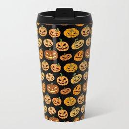 Jack o' Lantern Metal Travel Mug