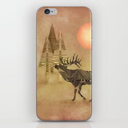 Deer in the autumn iPhone Skin