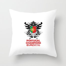 Portugal Champions Uefa Euro 2016 Throw Pillow