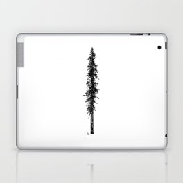 Love in the forest - a couple and their dog under a solitary, towering Douglas Fir tree Laptop & iPad Skin