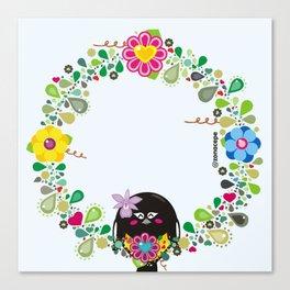 Flower Garland|Corona Florida Canvas Print