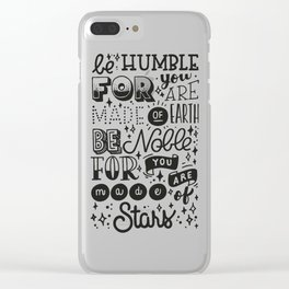 Made of Stars Clear iPhone Case