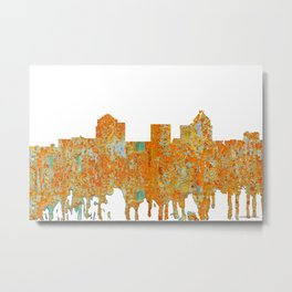 Greensboro, NC Skyline - Rust Metal Print