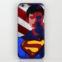 superman iPhone & iPod Skins featuring Superman by Scar Design