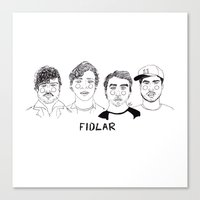 cactei Canvas Prints featuring Fidlar by ☿ cactei ☿