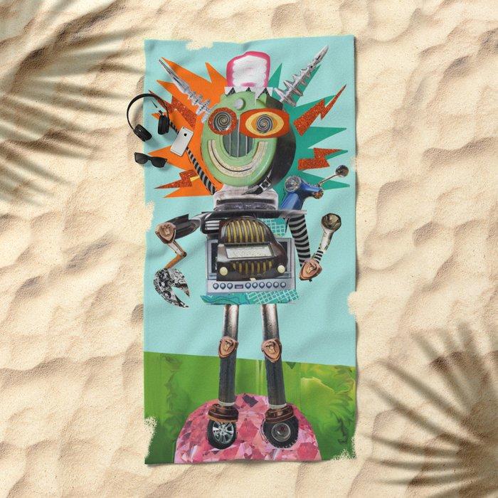 Radio Robot Beach Towel