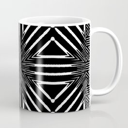 Tribal Black and White African-Inspired Pattern Coffee Mug