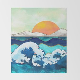Stormy Waters Throw Blanket