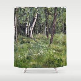 Woodland Forest Landscape Nature Art Shower Curtain