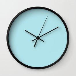 Seafoam Blue Linen Wall Clock