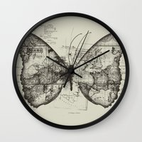 backpack Wall Clocks featuring Butterfly Effect by Tobe Fonseca