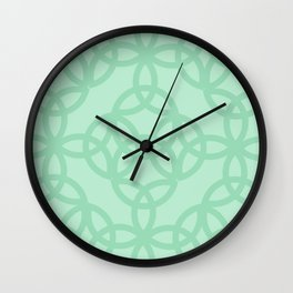 Celtic Knots in Seafoam  Wall Clock