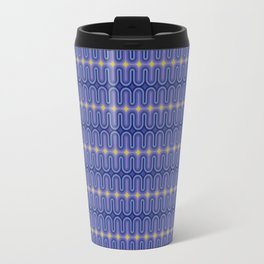 70's Pattern Modern Color Palette Travel Mug