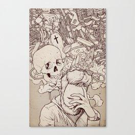 Self Destructive Personality Canvas Print