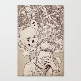 Self Destructive Personality Canvas Print