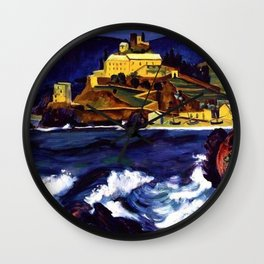 Cinque Terre, Italy Convent von Monterosso al Mare by Hermann Max Pechstein Wall Clock