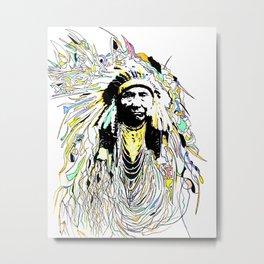 Hinmatóowyalahtq̓it -- Chief Joseph Metal Print