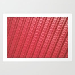 Stripes II - Red Art Print