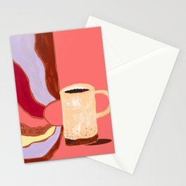 Morning Coffee Feels Like Stationery Cards