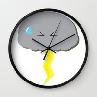 poop Wall Clocks featuring Cloud Poop by NotRightYet
