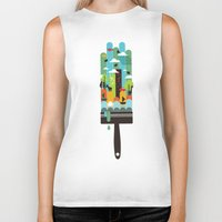 child Biker Tanks featuring Paint your world by Picomodi