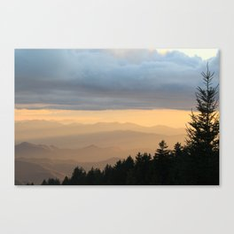 Breathtaking Mountain Sunset * Western North Carolina * Blue Ridges turn Golden Canvas Print