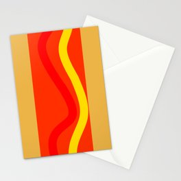 Abstract hot dog Stationery Cards