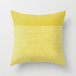 Riverside(Yellow) Throw Pillow