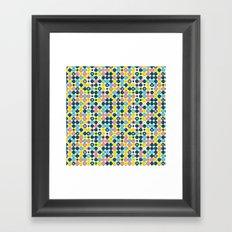 Funny Polkas-Blue and pink Framed Art Print