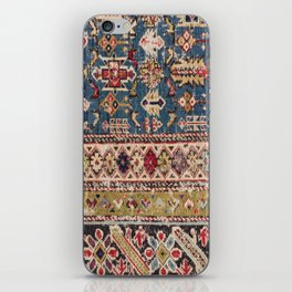 Dusty Blue Green Kuba II 19th Century Authentic Colorful Mustard Bands Vintage Patterns iPhone Skin