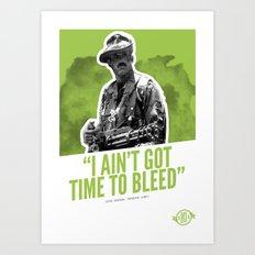 Badass 80's Action Movie Quotes - Predator Art Print