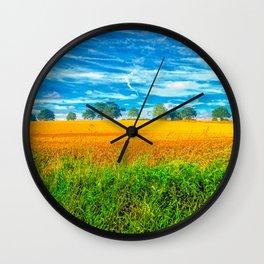 Summer Country Scene Wall Clock