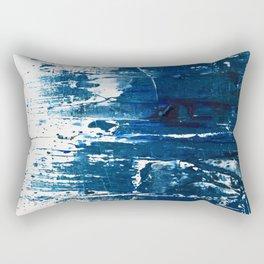 Tranquil: a minimal, abstract piece in blue by Alyssa Hamilton Art Rectangular Pillow
