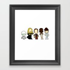 Hitchhikers guide Framed Art Print