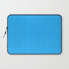 Blue Grid White Line Laptop Sleeve