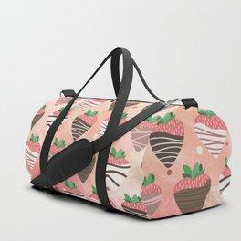 Chocolate Loving Strawberries Duffle Bag