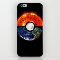 pokeball iPhone & iPod Skins featuring Galaxy Pokeball by Advocate Designs