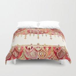 Royal Red Art Deco Double Drop Duvet Cover
