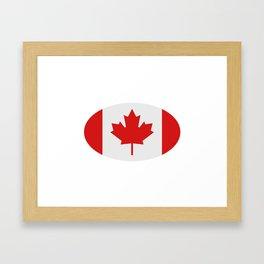 flag canada Framed Art Print