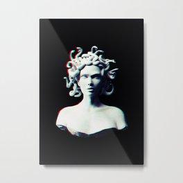 Medusa glitch Metal Print